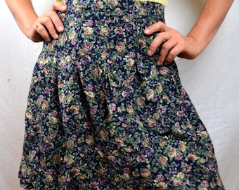 Vintage 80s 90s Floral Mini Skirt by Weathervane