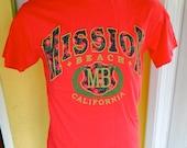 Mission Beach San Diego California 1990s vintage tee shirt size large