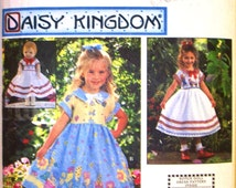 simplicity daisy kingdom pattern 8616 -  girls dress with matching outfit for 18 inch doll - (1999) - UNCUT