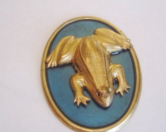 Frog  Brooch Gold Tone