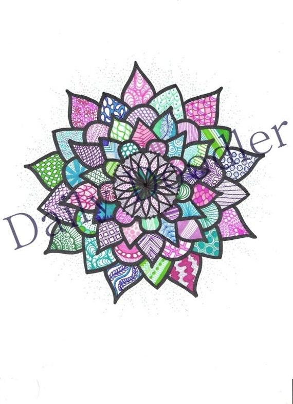 Gallery For gt Sharpie Art Flower