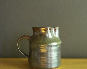 Just A Small Pitcher - Vintage Pottery - Small Handmade Vase - Neutral Colors