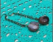 Botswana Agate Earrings, ...