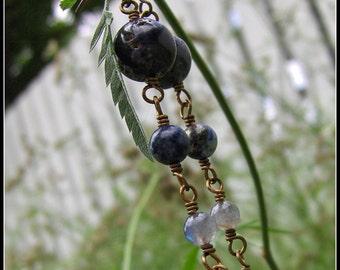 Sapphire Earrings, Blue Earrings, Lapis Earrings, Labradorite Earrings, Blue Tiger Eye Earrings