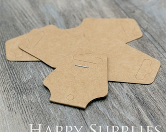 47X40MM Kraft paper Necklace Cards/ Necklace Tag/ Earring Holder, Jewellery Supplies, Packaging (TAG12)