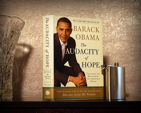 Hollow Book Safe & Flask (The Audacity of Hope by BARACK OBAMA)