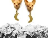 Fennec Fox Earrings, Fox Earrings, Animal Jewelry, Fox Jewelry - MOONS