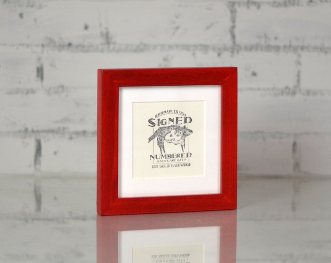 6x6 inch Square Picture Frame in 1x1 Flat Style and Color OF YOUR CHOICE - Handmade 6x6 Photo Frame - 6 x 6 art frames