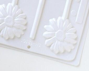 Flower Lollipop Mold, Daisy Candy Mold, Flower Hard Candy Mold, Lollipop Favors