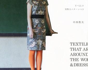 Stylish & Feminine One-Piece Dress - Japanese Sewing Pattern Book for Women Clothing, Easy Sewing Tutorial - Norio Nakanishi, B1609