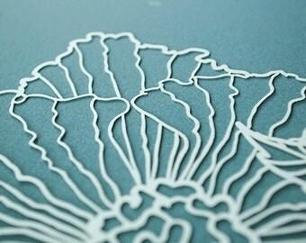 Ketubah Papercut by Jennifer Raichman - Ruffled Blooms