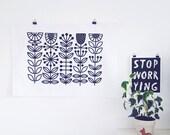 Stems Tea Towel