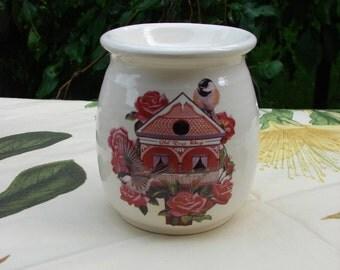 Rose Way Inn Chickadee Nest House! Ceramic Tea Light Tart Burner