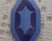 Reserved for Shelley Vintage Pendant Blue Enamel Sterling Silver