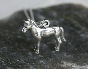 Sterling Silver Horse Necklace / Pony Necklace