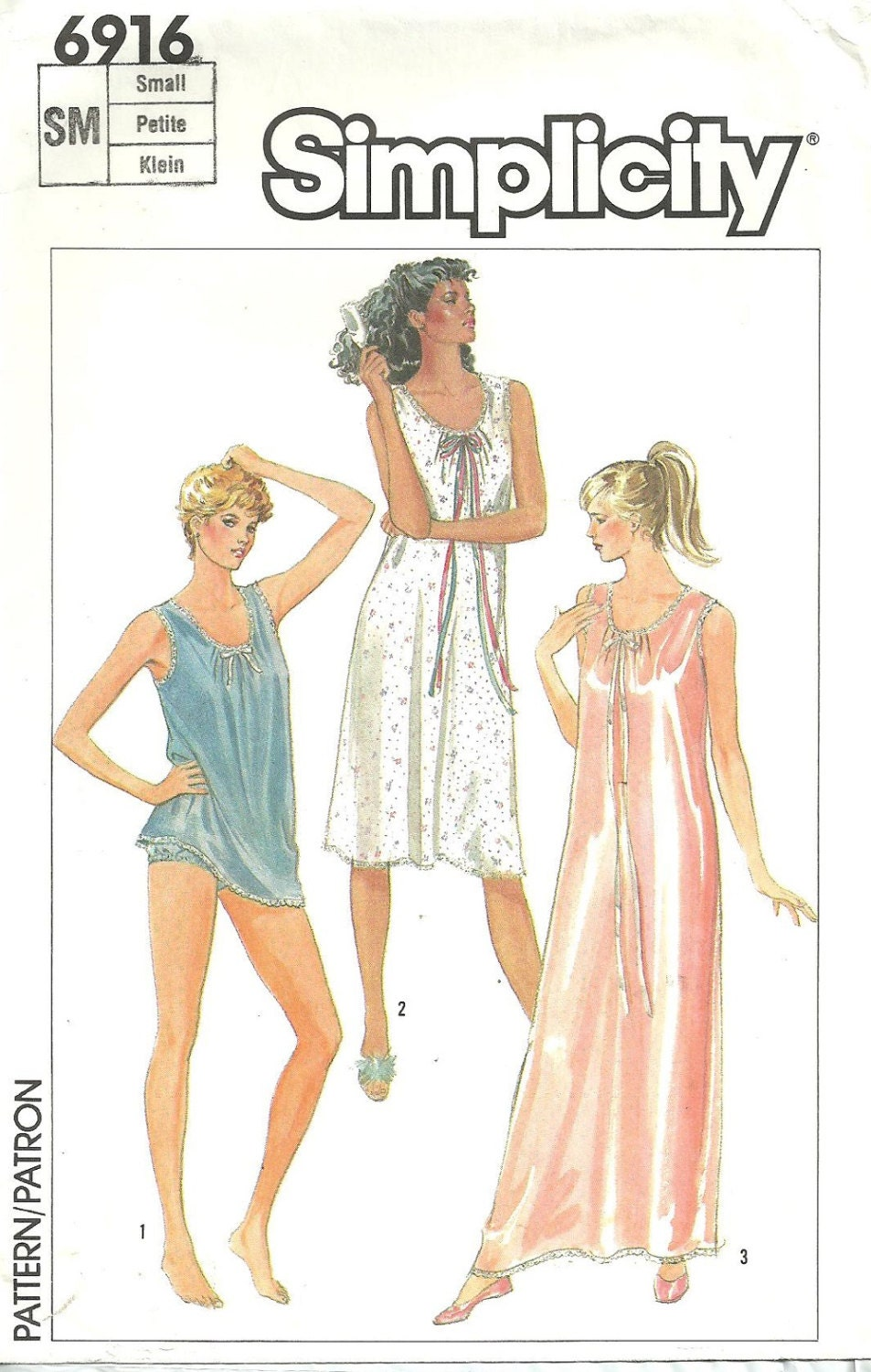 Vintage lingerie sewing pattern simplicity by studiogpatterns