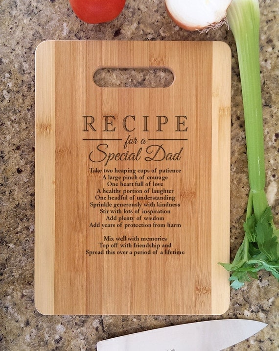 Father DAD Gifts Personalized Recipe for a Special Dad Custom