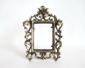 Brass Frame Rococo Heavy Cast Downton Abbey Victorian Style