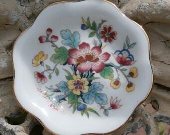 Coalport Ming Rose Pin Dish, Tiny Plate, Trinket Tray Vintage English China
