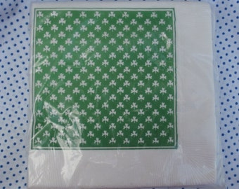 Vintage Shamrock Napkins, Package of 20, Great for St Patrick's Day