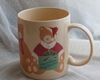 Teddy Bear Christmas Mug, 1985 Hallmark Cards, Inc
