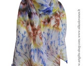 Hand dyed Silk scarf - SKY