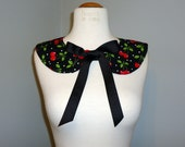 Custome Order - 2 Rockabilly Cherry Polka Dot Collar Necklaces