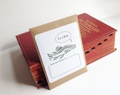 Fish book plate stickers, set of 17 plus envelope. Trout fishing book plates. Custom printing option. Fathers Day gift.