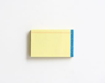 Miniature Ruled Note Pad Pin/Brooch