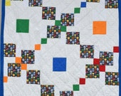 """Super Heroes Quilt, with Cuddle Minky Back 51"""" X 66"""""""