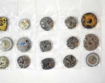 15 mechanical watch mechanisms lot