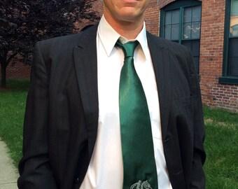 Norse Sleipnir Embroidered Silk Necktie