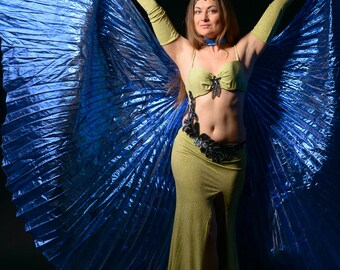 Belly Dance costume, professional Belly Dance costume, luxury Belly Dance outfit - GREEN MERMAID - SALE 10% Free Shipping