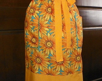 Waist Apron Extra Long 27 in Fields of Glory Handmade for Cooking Cleaning Craft Hostess Activities Excellent Clothing Protector