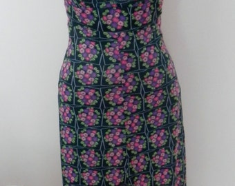Vintage Arpeja Maxi Dress - Backless Halter Dress - Floral Long Dress 1960's