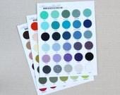 Felt Swatch Chart // Benzie // Wool Blend Felt, Color Chart, Fabric Swatches, Color Chart, Felt Swatches, Wool Fabric Samples, Merino Wool