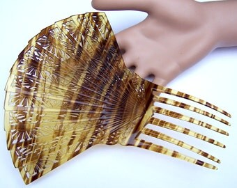 Large faux tortoiseshell hair comb Spanish mantilla comb hair accessory, hair jewelry, headdress, headpiece, decorative comb