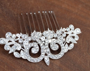 Bridal Hair Comb, Wedding Hair comb, Wedding Hair Accessories, Crystal comb, rhinestone comb, Bridal Crystal hair comb,