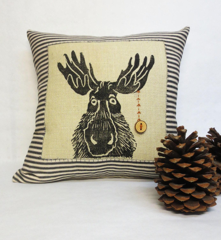Decorative Moose Pillows : Decorative Moose Pillow Decorative Woodland Rustic Moose