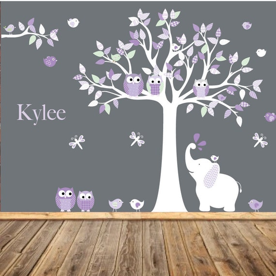 Nursery Wall Decal , Kids Wall Art, Baby Girl, Children's Room Decals,
