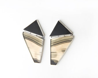 Genuine 80's Vintage Geometric Statement Earrings