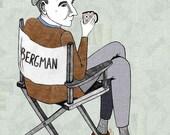 Ingmar Bergman Portrait Illustration