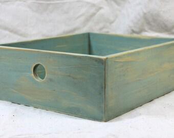 Desktop Storage Box in Sea-Foam Green - Letter Size