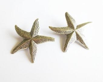 Starfish Hair Clips Silver Girls Barrettes Ariel Mermaid Costume Nautical Bride Bridal Bridesmaid Beach Wedding Accessories Womens Gift