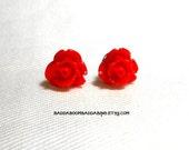 SALE USA 7mm Red Rose Stud Earrings ʚϊɞ  Surgical Steel Posts