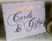 Wedding Sign, Cards & Gifts, Gold or Silver with Crystals Reception Sign Fairytale Weddings