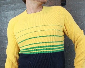 Vintage Yellow knit Sweater by Bryant Made in Scotland