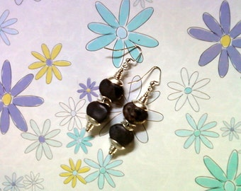Black Raku Earrings (2063)