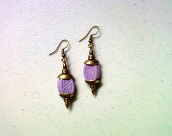 Lavender and Brass Earrings (1800)