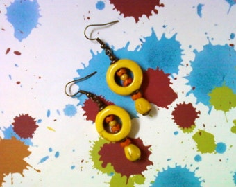 Yellow and Orange Earrings (2103)